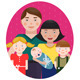 Happy Family Parents with Three Children Portrait - GraphicRiver Item for Sale