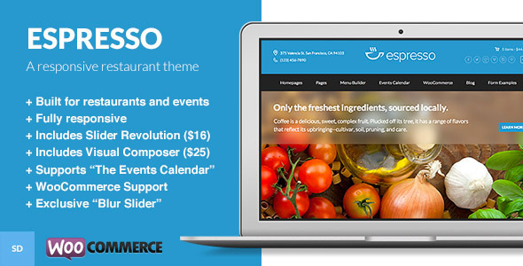 Espresso - A WordPress Theme for Restaurants - Restaurants & Cafes Entertainment
