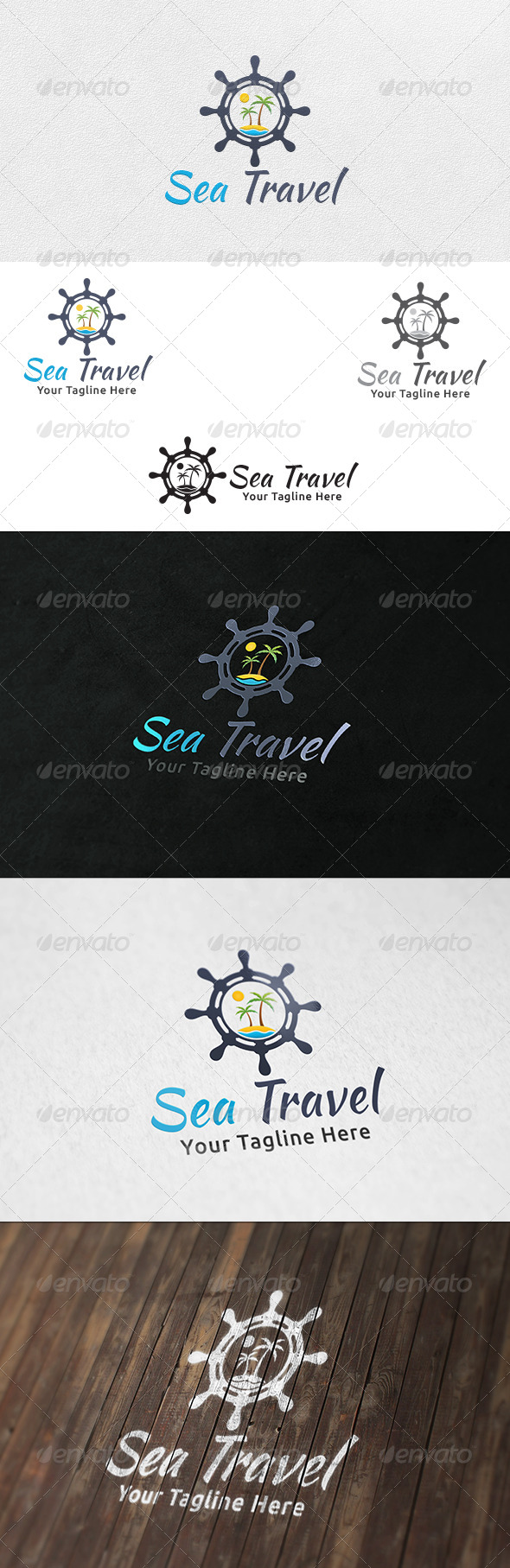 GraphicRiver Sea Travel Logo Tempate 6338552