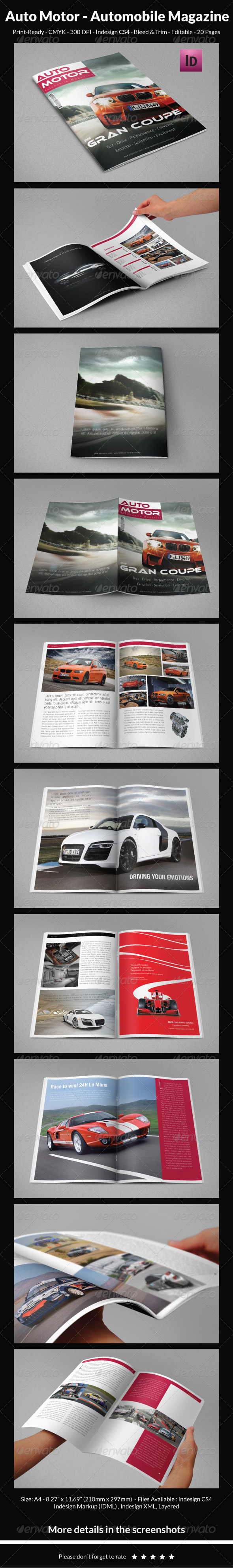 GraphicRiver Auto Motor Automobile Magazine 6337592
