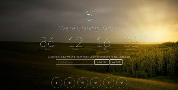 ThemeForest BERSUA Responsive Coming Soon Page 6339562