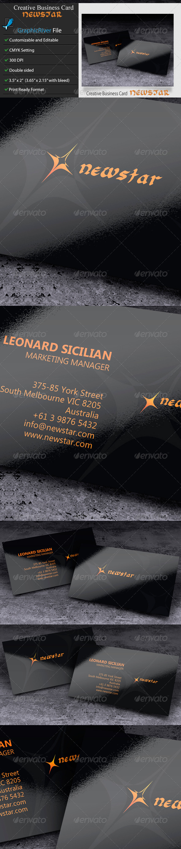 GraphicRiver Creative Business Card Newstar 6339841