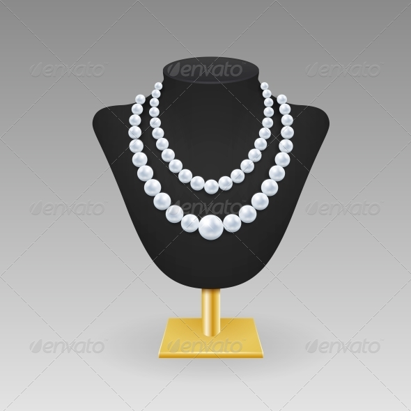 GraphicRiver Pearl Necklace on a Rack 6340168
