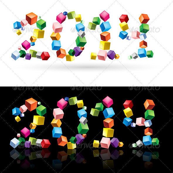 GraphicRiver 2014 in Cubes 6341093