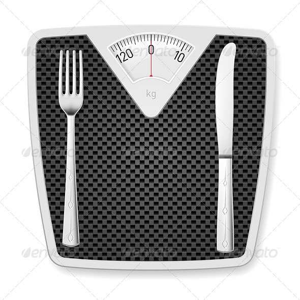 GraphicRiver Bathroom Scales with Fork and Knife 6341123