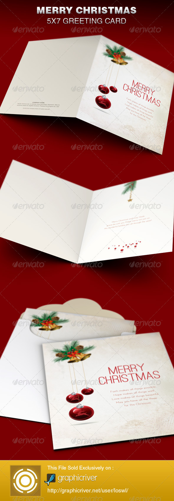 GraphicRiver Merry Christmas Greeting Card Template 6341125