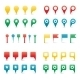 Colorful Map Pins. - GraphicRiver Item for Sale