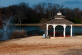 Gazebo near a fountain in the winter - PhotoDune Item for Sale
