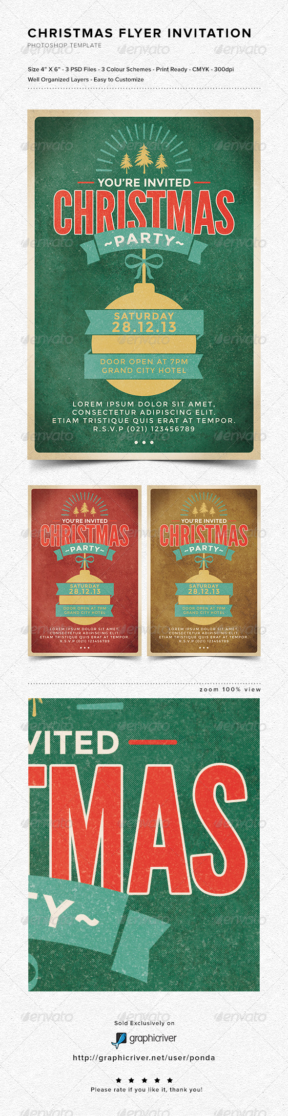 GraphicRiver Christmas Flyer Invitation 6314017