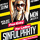 Sinful Party - PSD Flyer Template - GraphicRiver Item for Sale