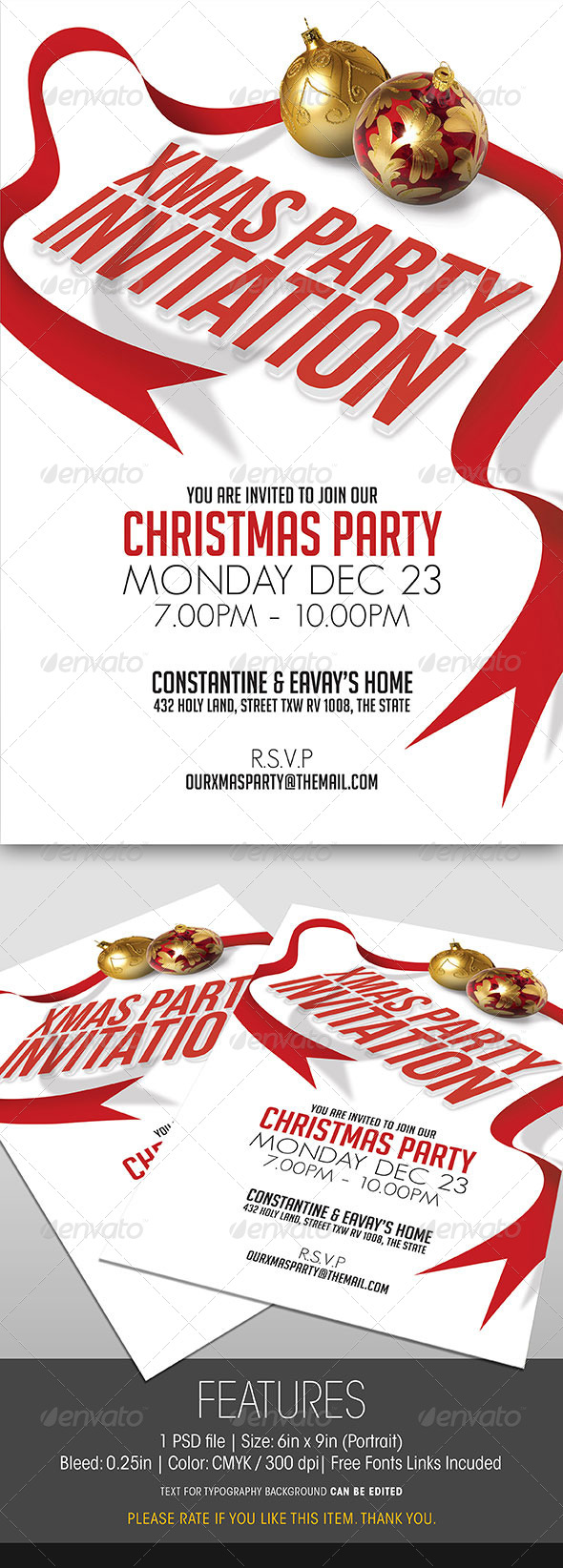 GraphicRiver Christmas Party Invitation 6342228