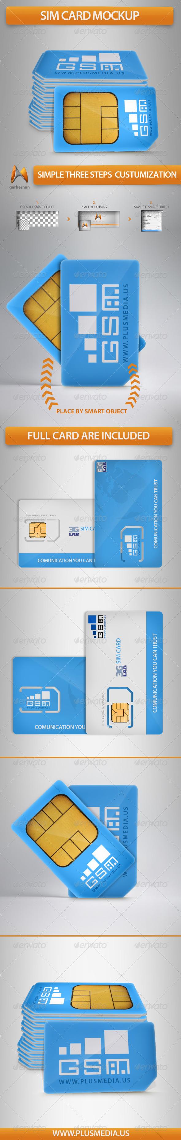 GraphicRiver Sim Card Mockup 6342243