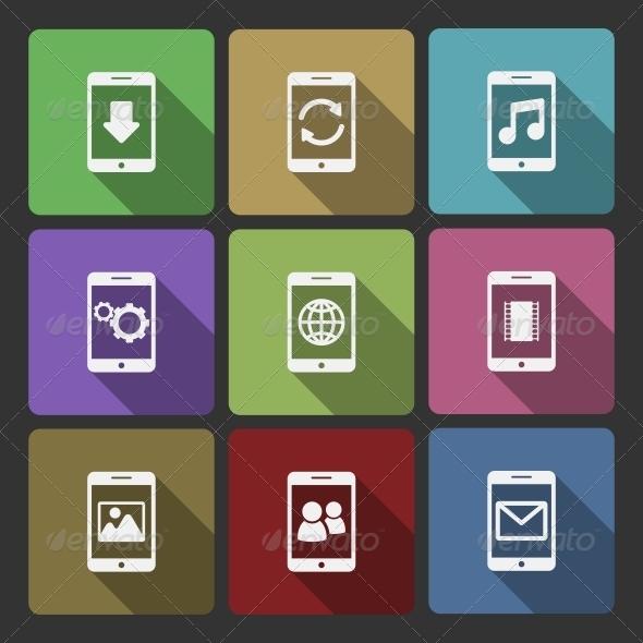 GraphicRiver Mobile Devices UI Design Set Squared Shadows 6342867