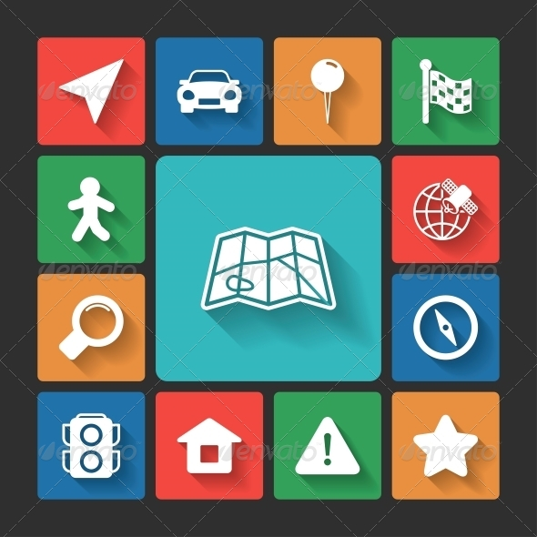 GraphicRiver Navigation Icons Set 6342869