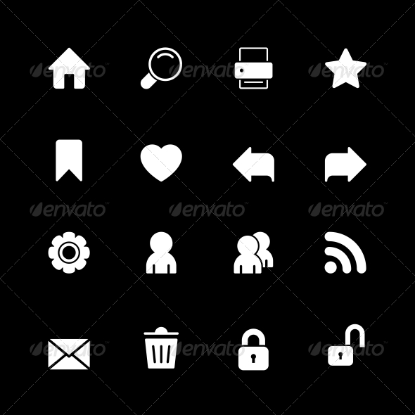 GraphicRiver Web Technology Icons Set 6342876