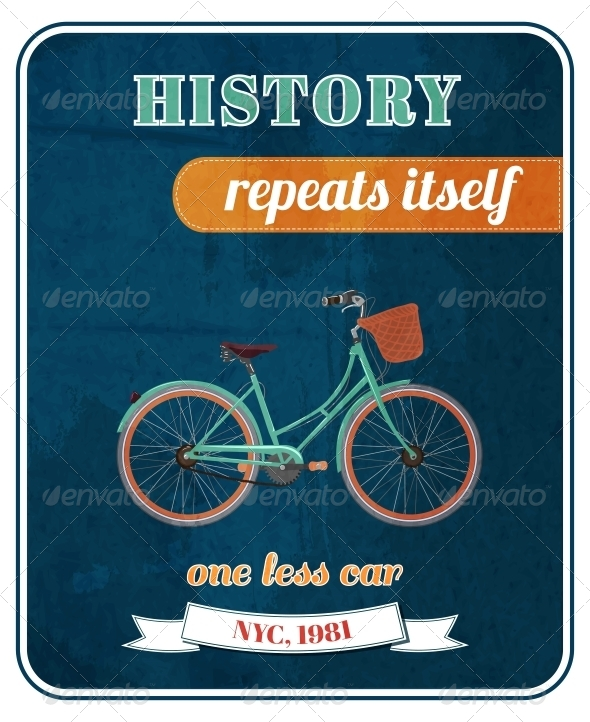 GraphicRiver Hipster Bicycle Promo Poster 6343018