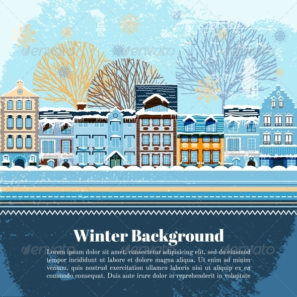 GraphicRiver Winter Invitation Postcard Template 6343021