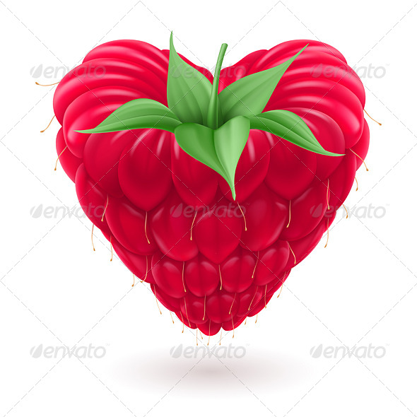 GraphicRiver Raspberry in Heart Shape 6343240
