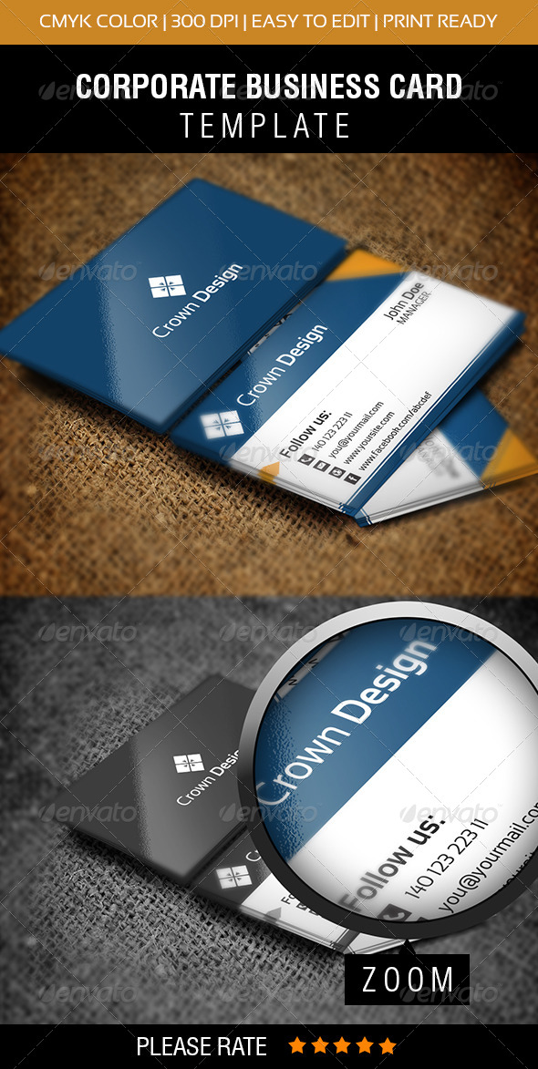 GraphicRiver Crown Design Business Card 6315450