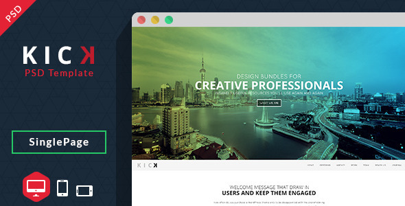 Kick-PSD Template - Creative PSD Templates