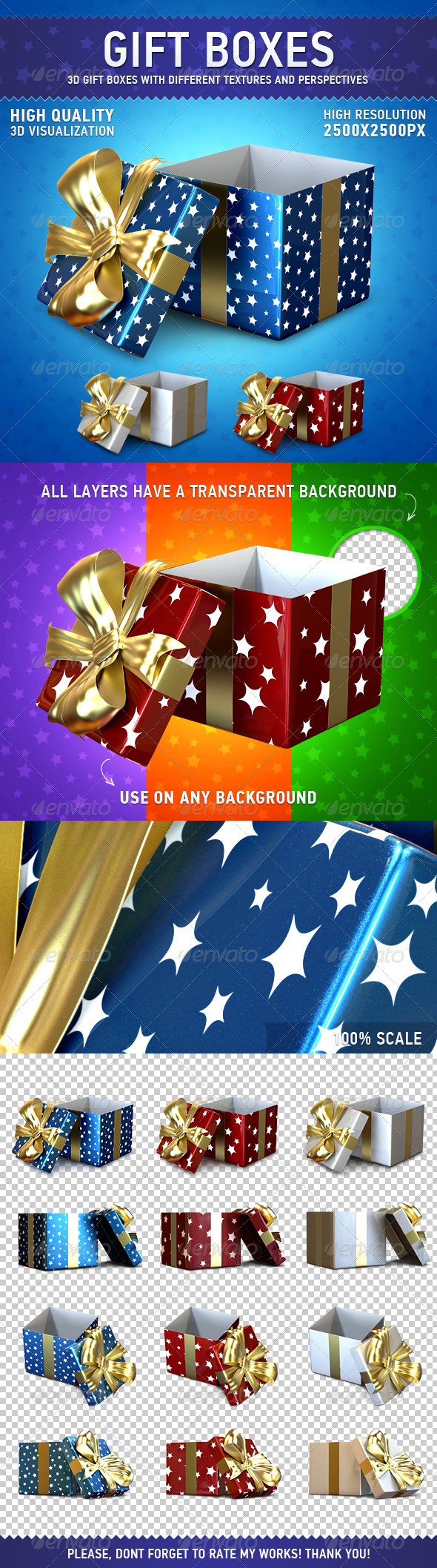 GraphicRiver Gift Boxes Set 6320939