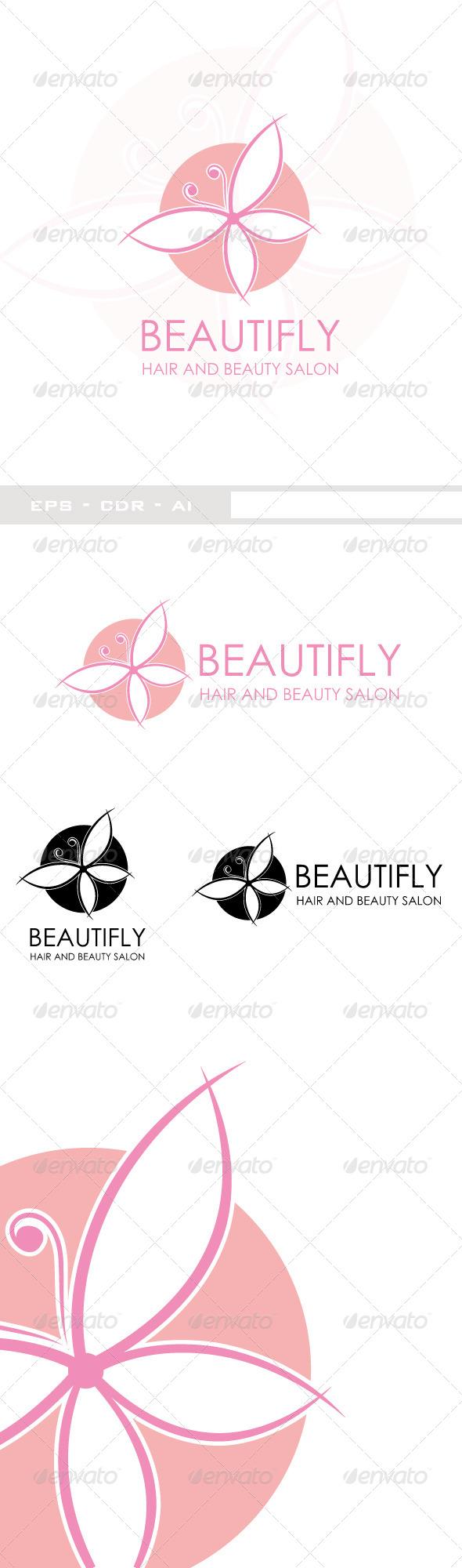 GraphicRiver Beautifly Beauty Logo 6344193