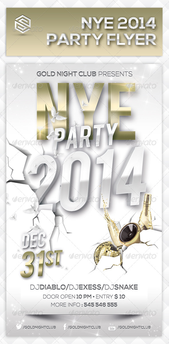 GraphicRiver New Year Events Party Flyer 3674690
