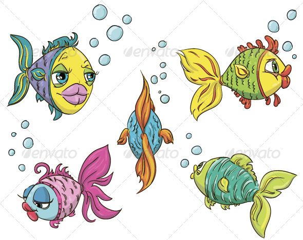 GraphicRiver Set of Fish 6344610