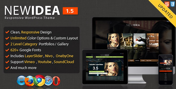 New Idea Responsive Layout Wordpress Theme