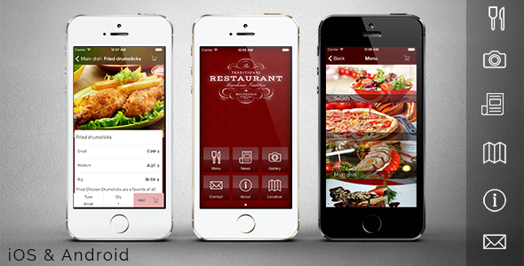 CodeCanyon Restaurant app template 6345213