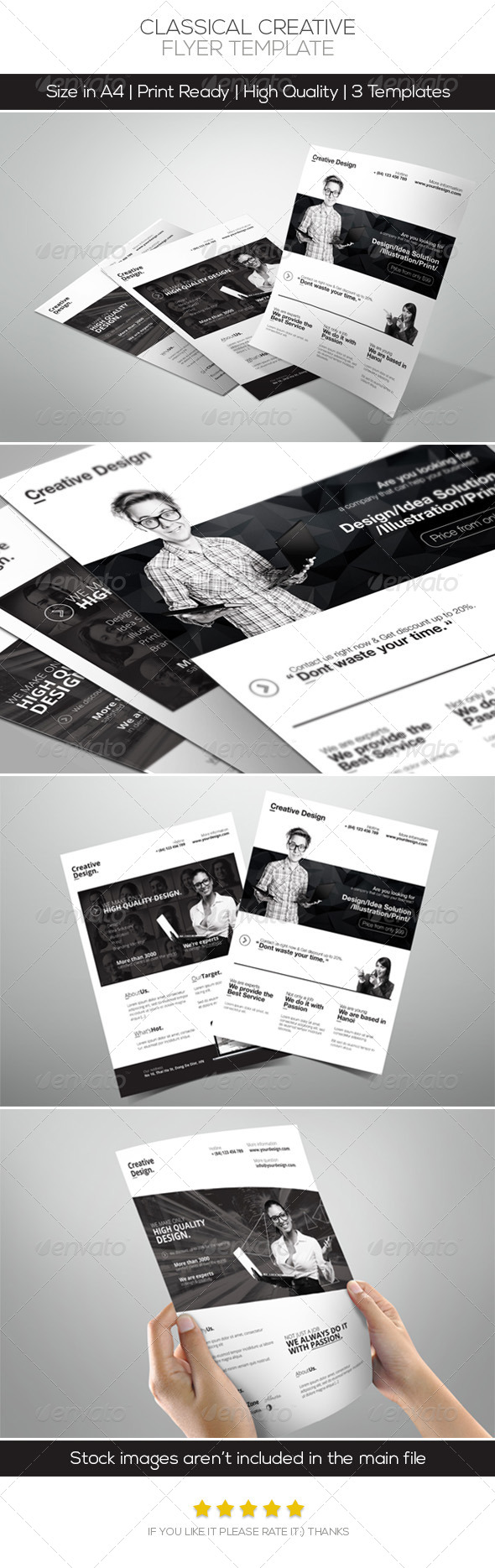 GraphicRiver Classical Creative Design Flyer 6345218