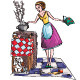 Housewife Vector Illustration - GraphicRiver Item for Sale