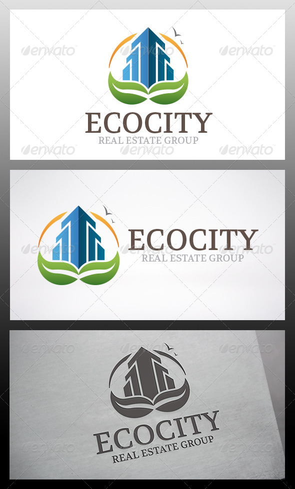 GraphicRiver Eco City Logo 6346012