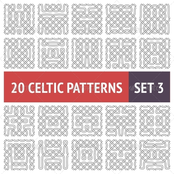 GraphicRiver Celtic Patterns Set 6346022
