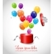 Color Glossy Balloons in Gift Box Background - GraphicRiver Item for Sale
