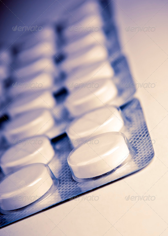 Retro Pills - Stock Photo - Images