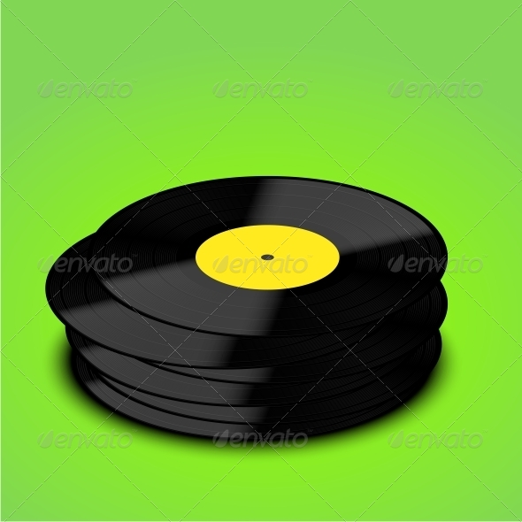 GraphicRiver Old Vinyl Record Background 6346905