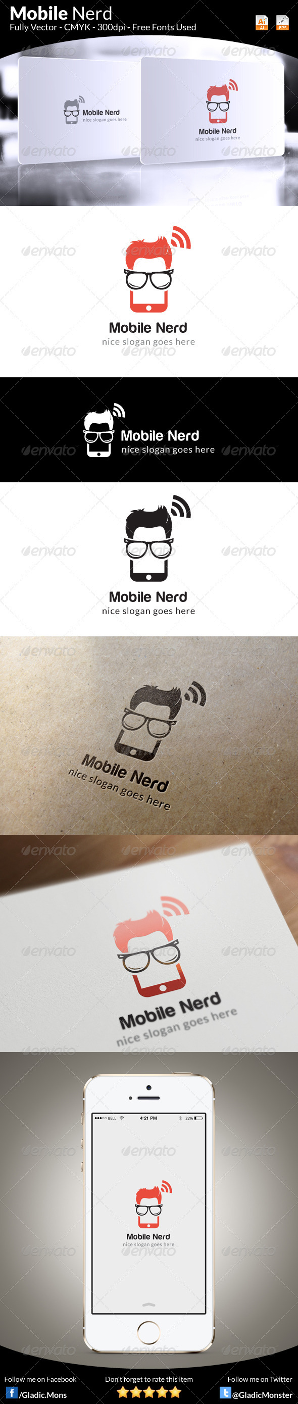 GraphicRiver Mobile Nerd Logo Template 6346981