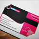 Creative Pink Business Card  - GraphicRiver Item for Sale