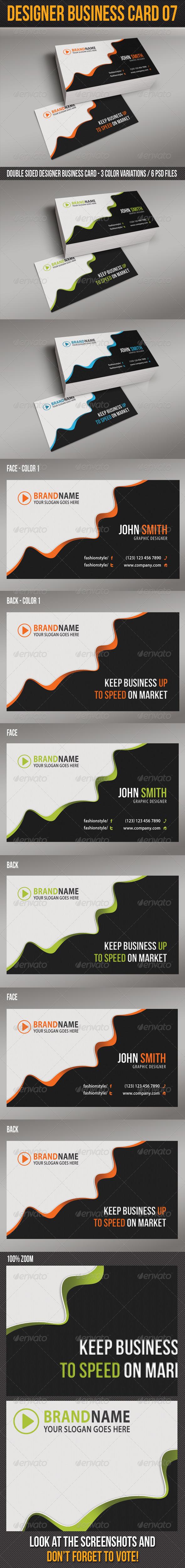 GraphicRiver Designer Business Card 07 6348329