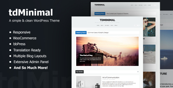 tdMinimal - Responsive WordPress Theme - Blog / Magazine WordPress