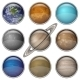 Solar System Planets, Set Buttons - GraphicRiver Item for Sale