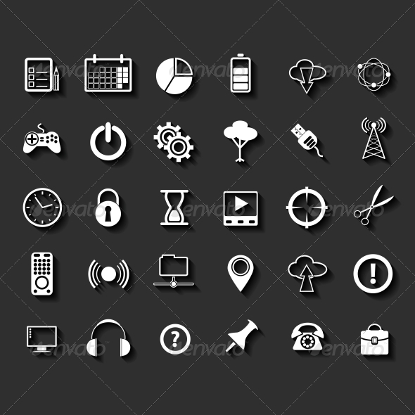 GraphicRiver Universal Flat Icons 6349497