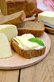 Sandwich with cheese suluguni and basil - PhotoDune Item for Sale