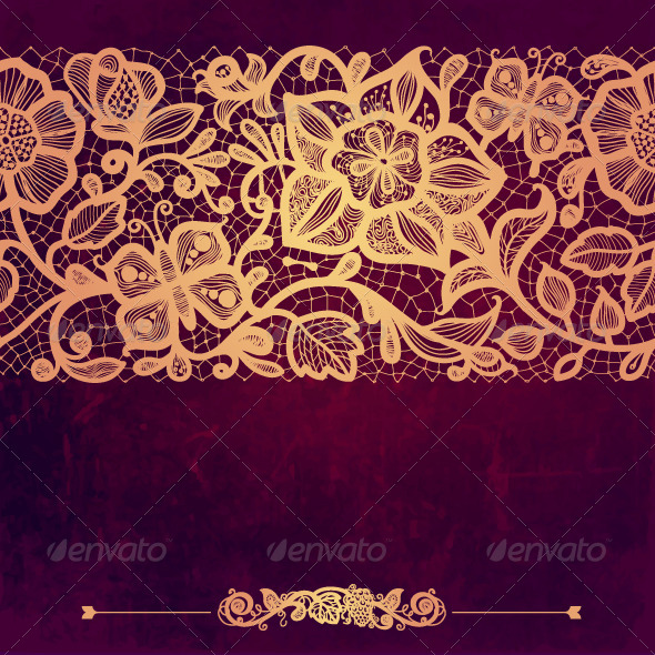 GraphicRiver Vintage Card on Grunge Background 6350819