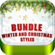 Bundle Winter and Christmas Styles - GraphicRiver Item for Sale