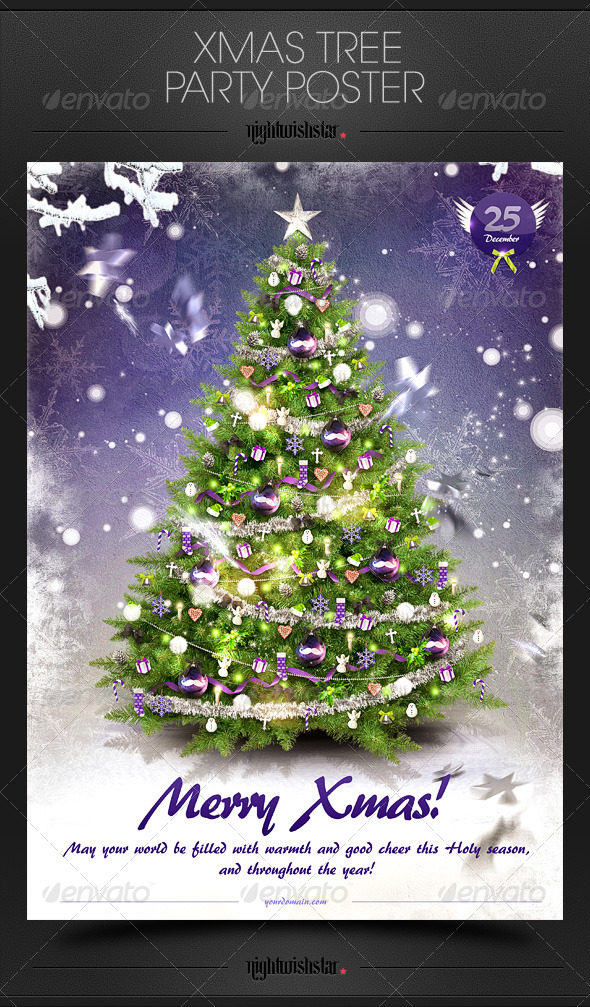 GraphicRiver Christmas Tree Card Poster 6351660