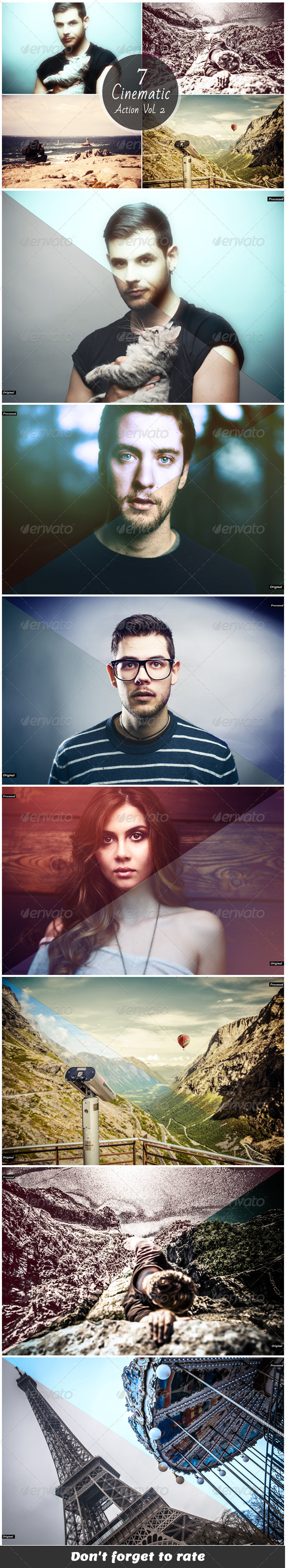 GraphicRiver Cinematic Photoshop Actions V2 6352153
