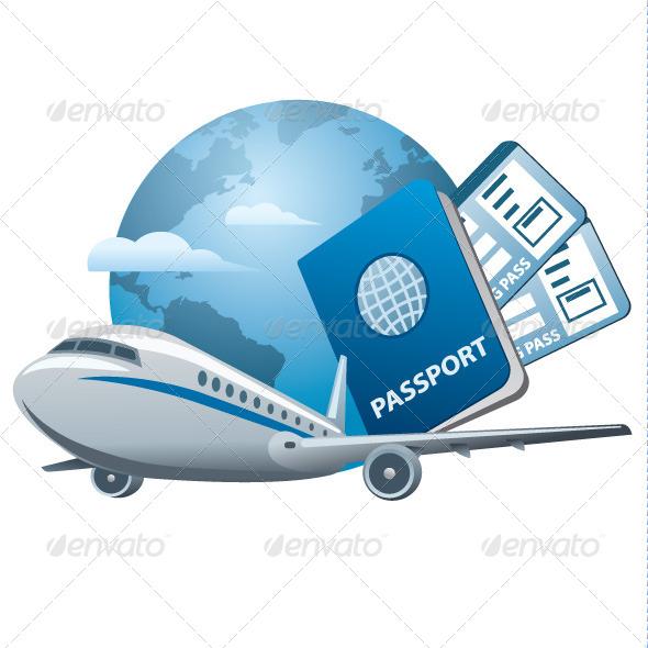 GraphicRiver Air Travel Concept Icon 6352801