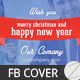 New Year and Christmas Facebook Timeline Covers - GraphicRiver Item for Sale